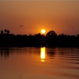 Sunset over the Gambia River